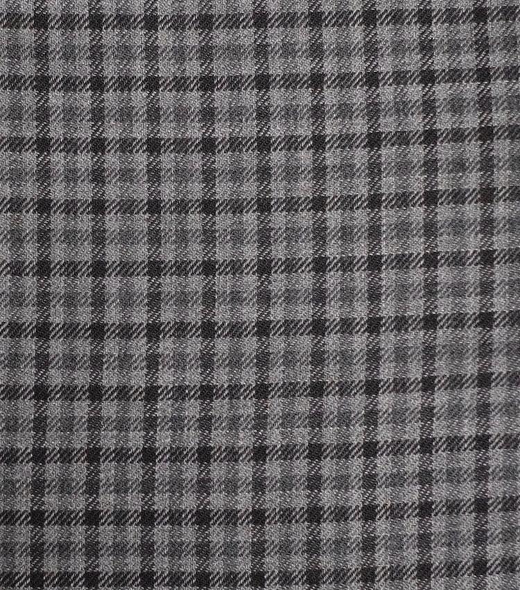 <p><strong>【柄】○○○○○チェック</strong><br />同系の2色により構成されるチェック柄。スコットランドの羊飼いが着ていた衣服に由来するとされる。こちらはモノトーンだが、茶系など様々な色使いのものがある。</p>