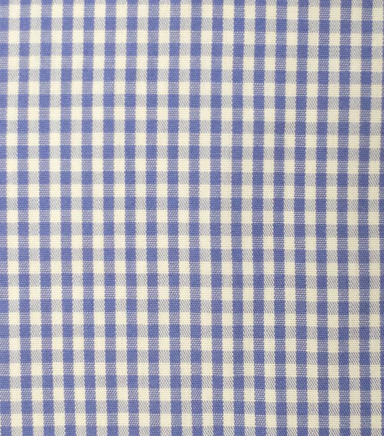 <p><strong>【柄】○○○○チェック</strong><br />もともとは柄ではなく特定の織物を指す名前。現在ではこのように、地色と格子がほぼ等間隔になるよう配されたチェック柄の名前として一般的。格子に複数の色を使ったものも見られる。シャツの柄として有名。</p>