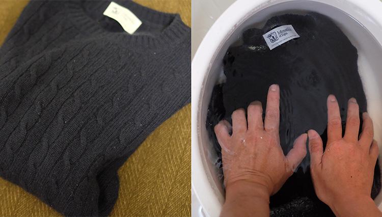 「カシミアニットは自宅で洗えるか?」を実験してみた!