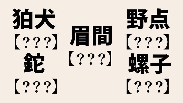 野点、鉈、螺子…これなんて読むの?【大人の漢字テスト】