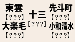 なかなか読めない日本の地名8選