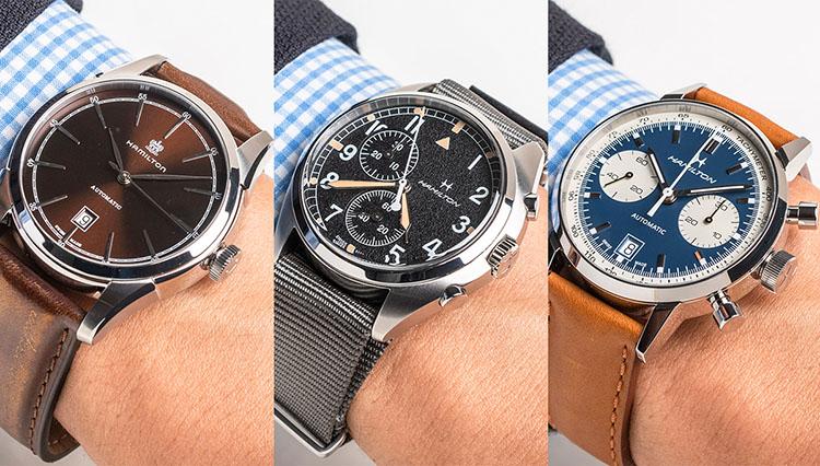 仕事用の腕時計、休日も使えるオススメをハミルトンの人気8本で徹底比較!