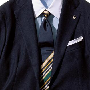 紺ブレを旬に見せるネクタイは?【1分で出来るスーツのお洒落】