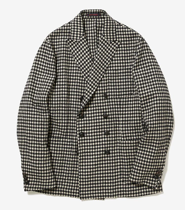 <p><strong>4.ザ・ジジの千鳥格子ジャケット</strong></p> <p>エレガントかつリラックスしたシンプル服を得意とするイタリアブランド。ギンガムチェック柄のダブルジャケットは、定番色づくしのワードローブに変化をもたらしてくれる。9万9000円(伊勢丹新宿店)</p>