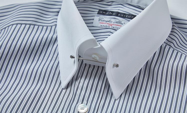 <p>今春のおすすめ「ピンホール」カラーの襟型もあり。</p>