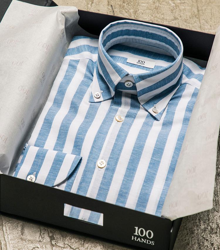 <p>こちらは平澤がオーダーしたカジュアルシャツ。</p>