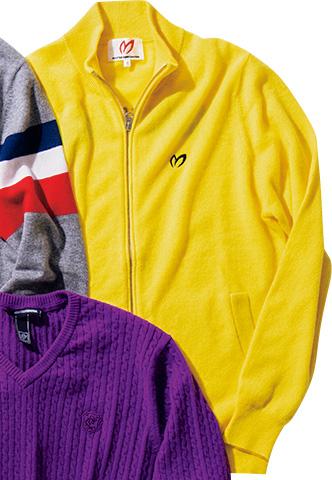 <p>モンゴル産のカシミアを採用。伸縮性と可動域を考慮した縫製も秀逸。<br /> <span style=