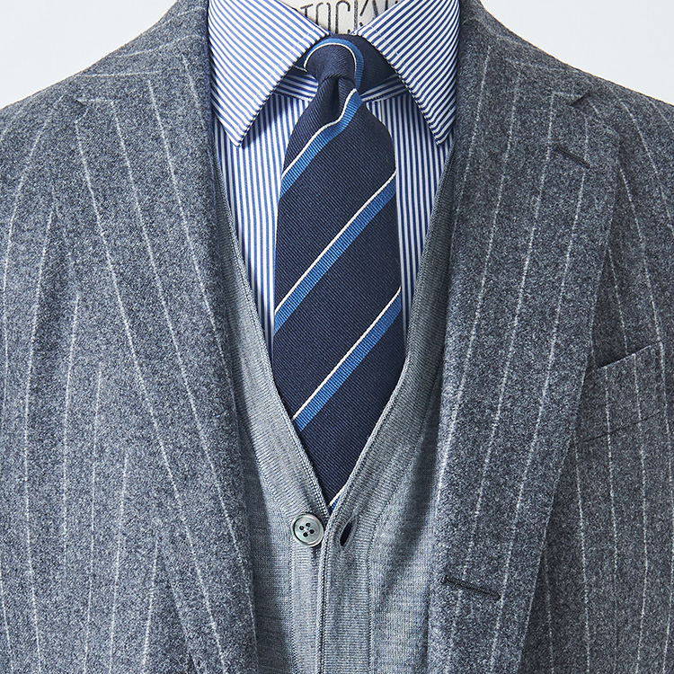 スーツ、シャツ、ネクタイ全部柄のとき、どうする?【1分で出来るスーツのお洒落】