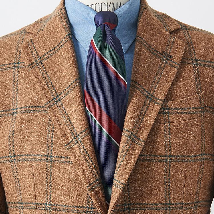 派手めの柄ジャケに柄のネクタイを合わせるコツは?【1分で出来るスーツのお洒落】