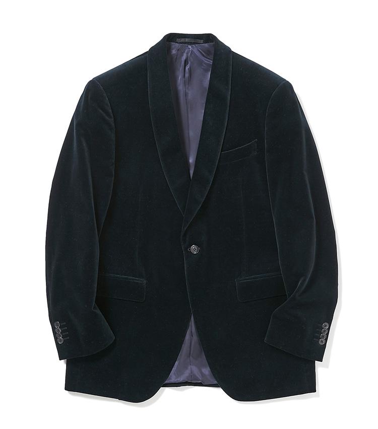 <p><strong>4.麻布テーラーのベルベットジャケット</strong></p> <p>2、3と同じ「ジェットクルーズ」モデルのショールカラージャケットは、軽快な仕立てで仕事をしない休日にも着回しやすい。素材は冬らしいベルベット。季節感は洒脱に見せるのに有効な要素だ。4万4000円〈オーダー価格〉(麻布テーラースクエア二子玉川店)</p>