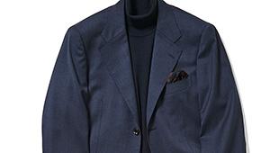 寝坊した日にも使える! ノータイで紺スーツをきちんと見せるテク