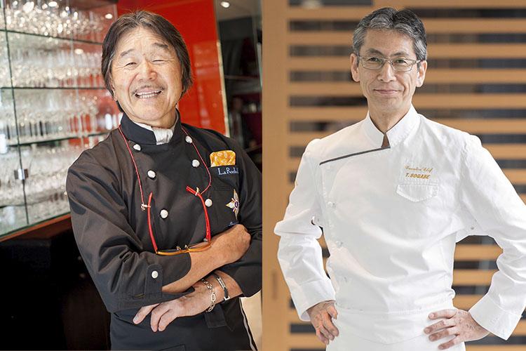 <p>左:坂井宏行氏、右:総料理長・曽我部俊典氏</p>