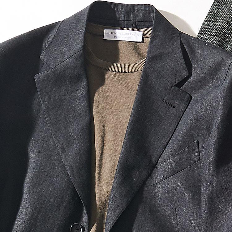 「休日ジャケット+ニット」大人に見せる配色は?【1分で出来るスーツのお洒落】