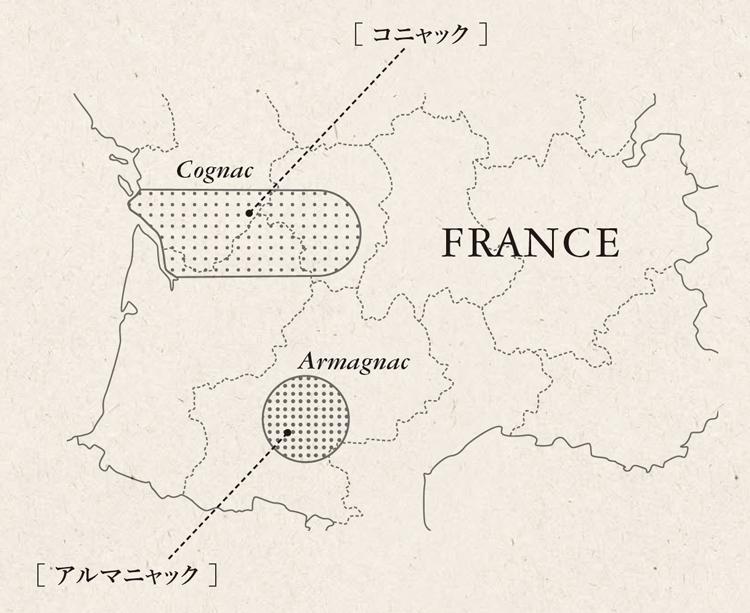 コニャックとアルマニャックの産地