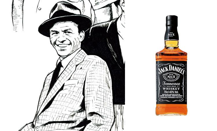 """<p><strong>フランク・シナトラ loved 「ジャックダニエル」</strong><br /> """"ザ・ヴォイス""""と称された天才シンガーのシナトラ。1940年代からジャックダニエルを愛し、'98年の死去にあたってはそのボトルとともに埋葬されたという逸話も。<br /> <span style="""