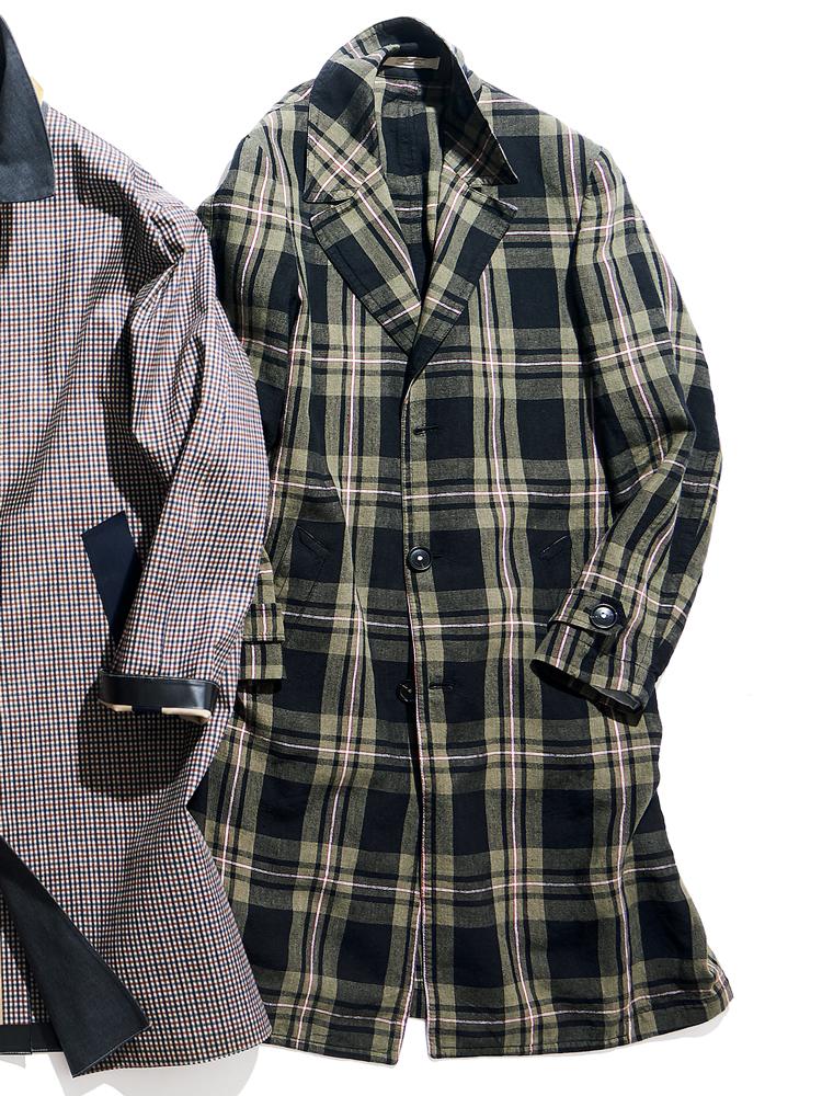 <p><strong>MASSIMO ALBA / マッシモ アルバ</strong><br /> マドラスの中でも落ち着いた印象の、ダークマドラスチェックを纏った一着。素材はリネン100%で、着用感は軽快そのものだ。仕立てのよさに定評のある伊ブランドらしく、肩の表情も美しい。13万6000円(ビームス 六本木ヒルズ)</p>
