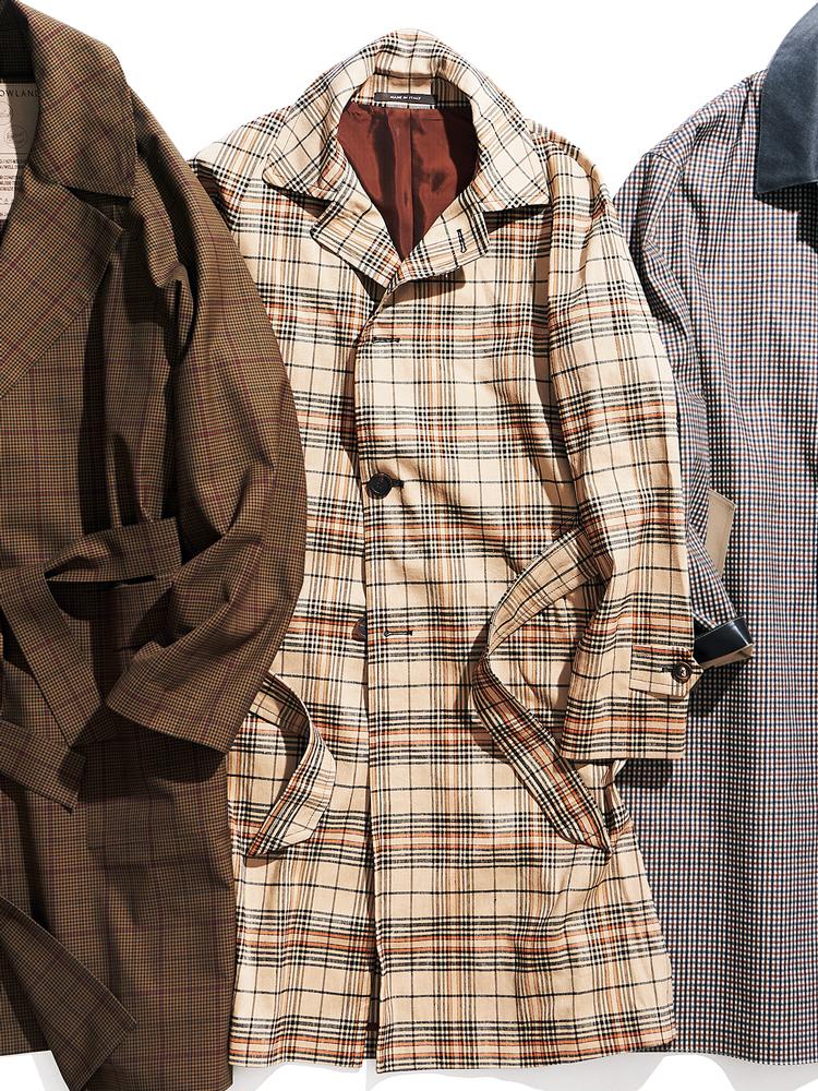 <p><strong>TAGLIATORE / タリアトーレ</strong><br /> 丸みを帯びた肩のラインを描く、ラグランスリーブの一着。フランクな印象溢れる暖色のチェック生地は、ストレッチが利いたリネンベースの混紡素材。ランダムな節感が、春らしい表情を添えている。9万3000円(トレメッツォ)</p>