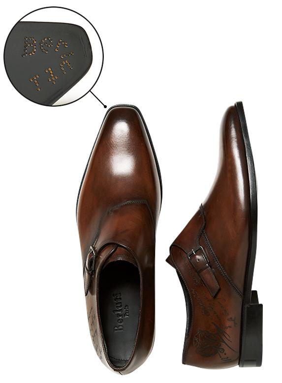 高級靴のソールのトウ