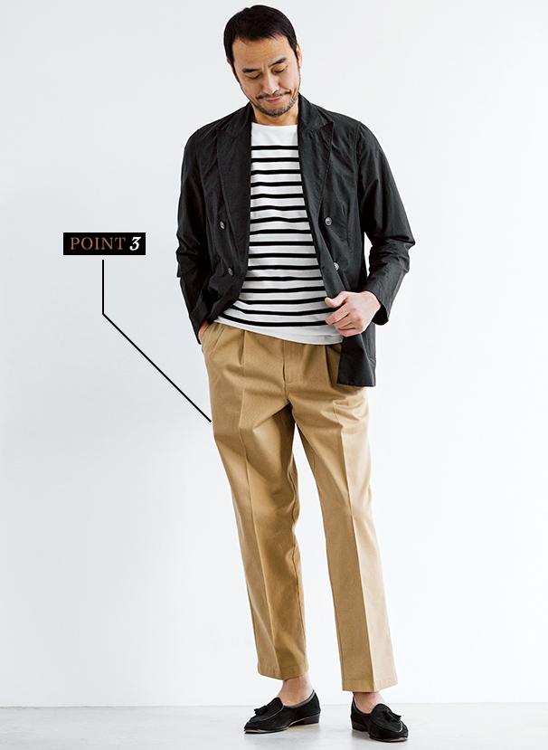 黒JK×Tシャツはフレンチシックに着る