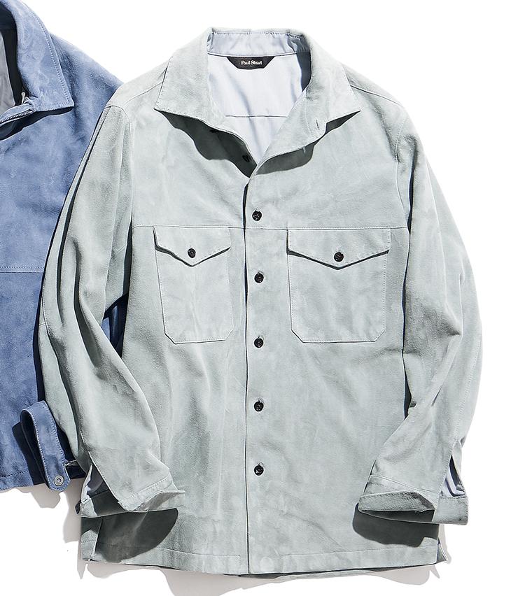 <p><strong>PAUL STUART / ポール・スチュアート</strong><br /> コンバーチブルカラーの軽やかなシャツ型ブルゾン。素材には上質で名高いパキスタン産の山羊革を使用。要所の手縫い風ステッチが、柔らかな風合いを際立たせている。2月下旬発売予定。10万円(ポール・スチュアート 青山店)</p>