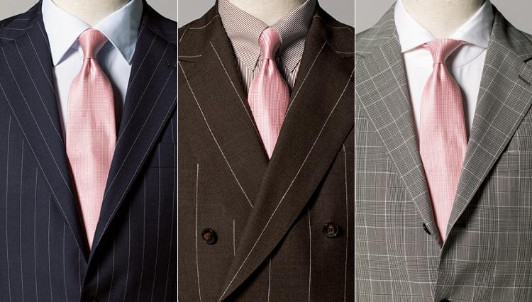 春の胸元に気品を出す「ペールトーンのネクタイ」実例6<応用編>