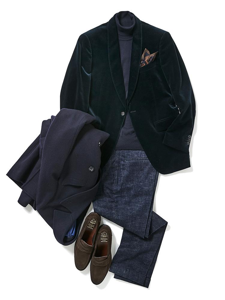 フツーのビジネススーツでは能がない! ベルベッドジャケットで一歩抜きん出るべし