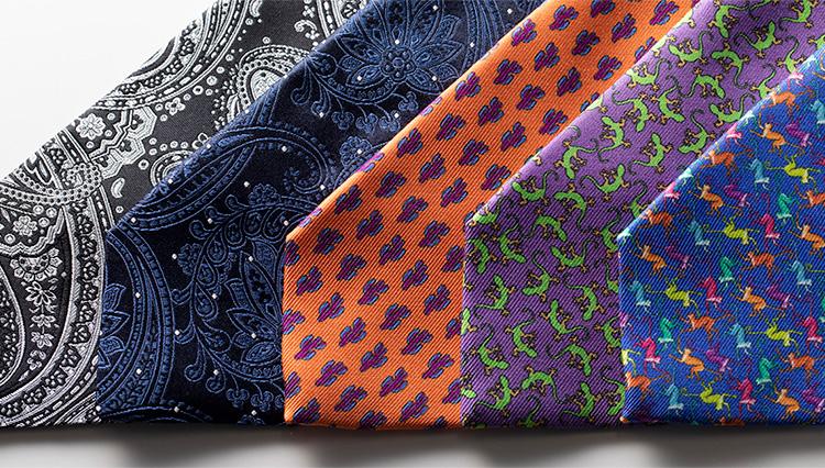 エトロの「個性派色柄ネクタイ」5選で、胸元に存在感を!