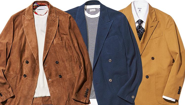 春の最旬「4Bダブルのスーツ&ジャケット」生地別着こなし実例