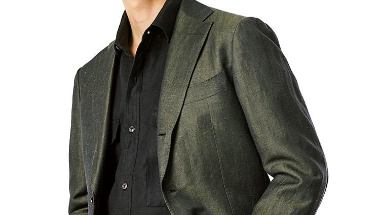 この春旬な「グリーンのスーツ&ジャケット」ビームス西口さんはどう着こなす?