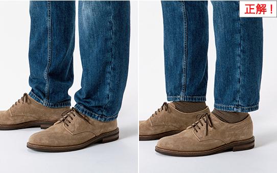 デニムの裾丈は短すぎず、長すぎない踝丈が正解