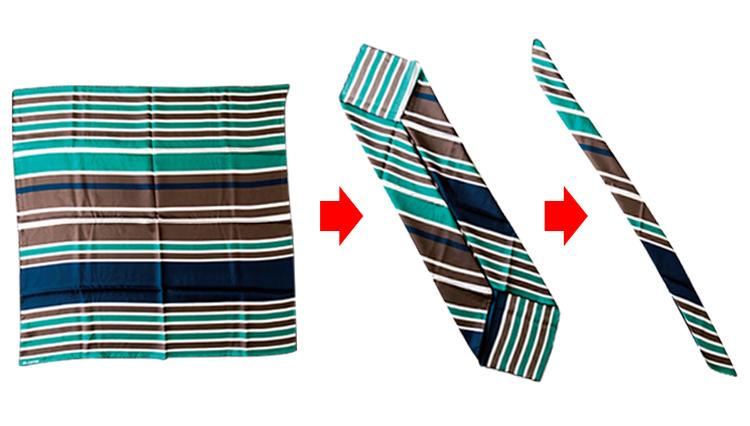 簡単に覚えられる!「お洒落に見えるスカーフの折り方」手順