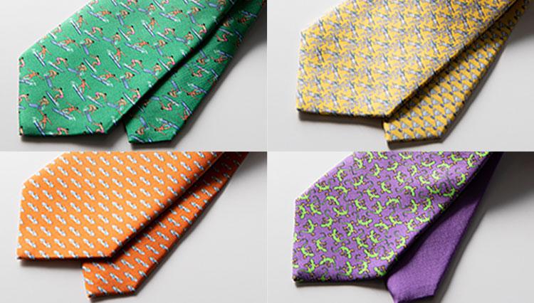 定番の紺&グレースーツが華やかになる!「ペールトーンのネクタイ」5選