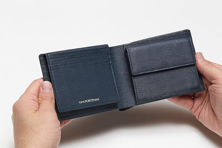 <p>(ポーター/開けたところ)</br>中ベロの背面にも4枚のカードポケットが。</p>