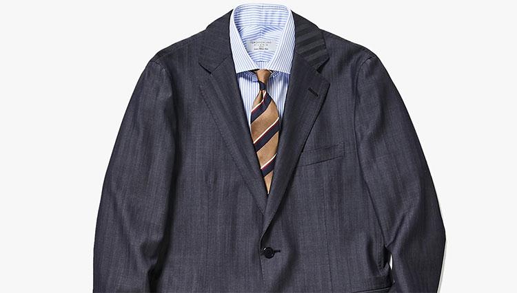 「ちょっと差がつく紺スーツ」2020春の最旬スタイルは?