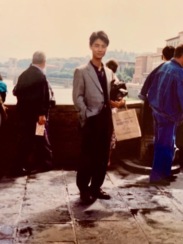 <p>1989年の出張の際の一枚。こちらはフィレンツェにて。</p>