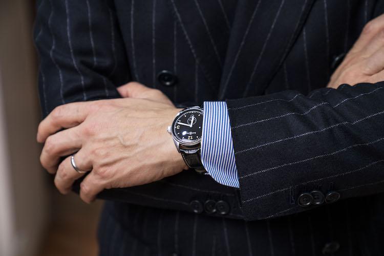 <p>腕時計はベル&ロスのヴィンテージシリーズ。</p>