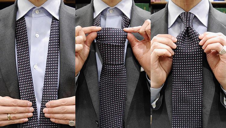 【ネクタイの結び方動画】Vol.1「プレーンノット」を作ってみよう