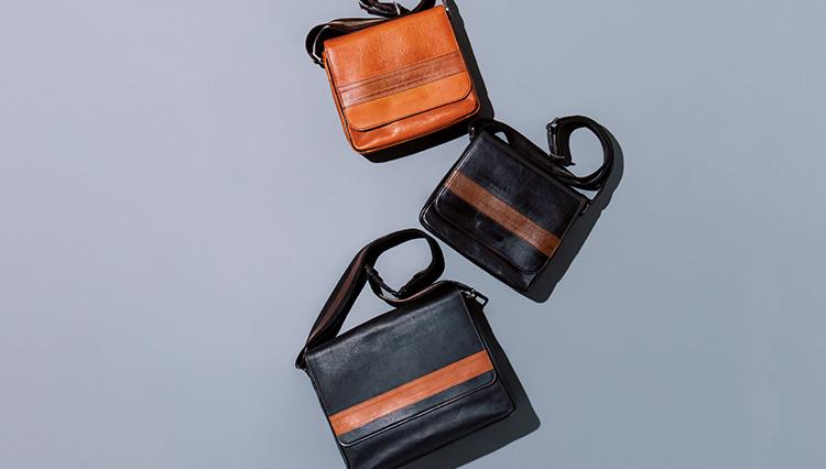 「もう少し大人っぽい休日鞄が欲しい」という人は、レザーショルダーがおすすめ!