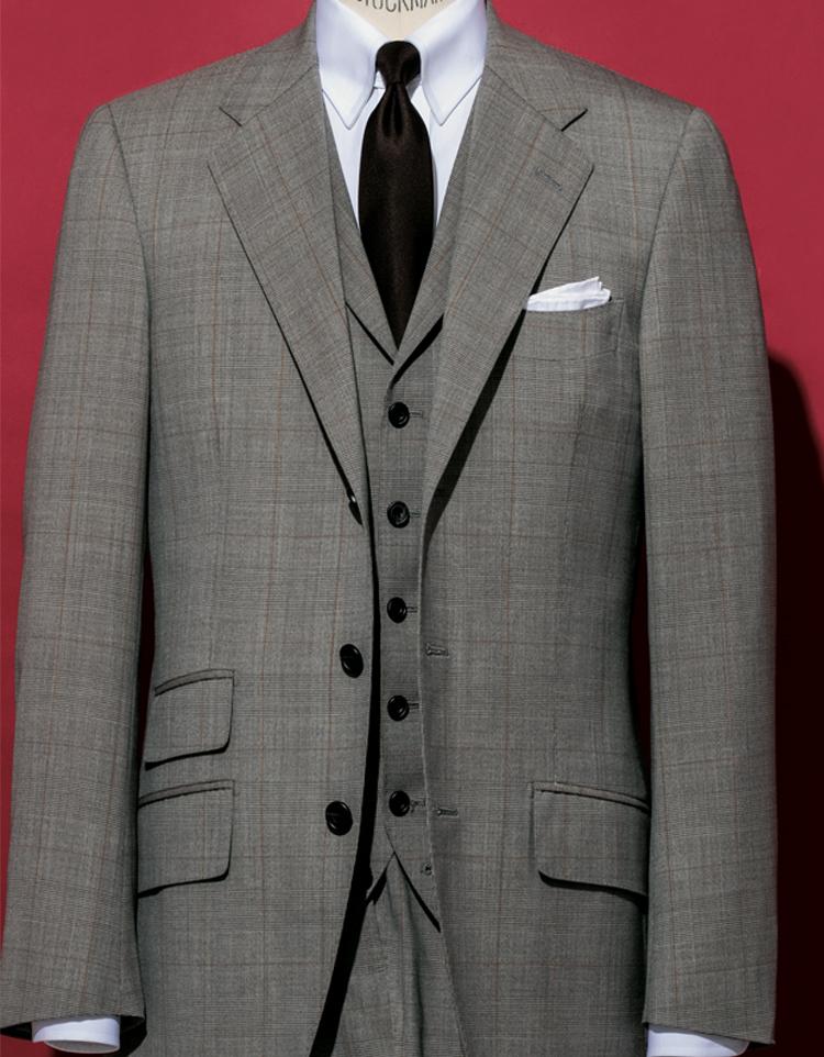 麻布テーラーの「Cloth Ermenegildo Zegna」の別注生地オーダースーツ
