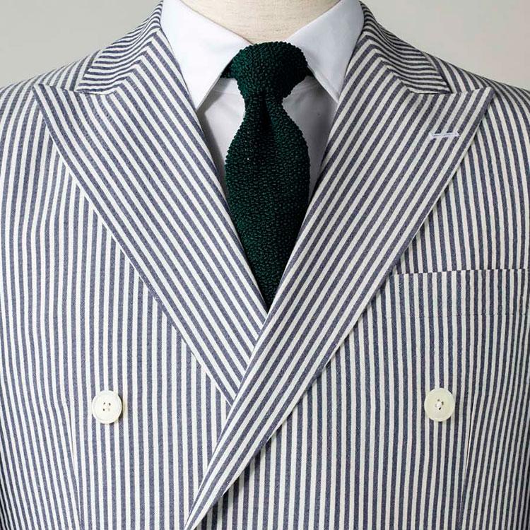 シアサッカースーツに似合うネクタイは?【1分で出来るスーツのお洒落】