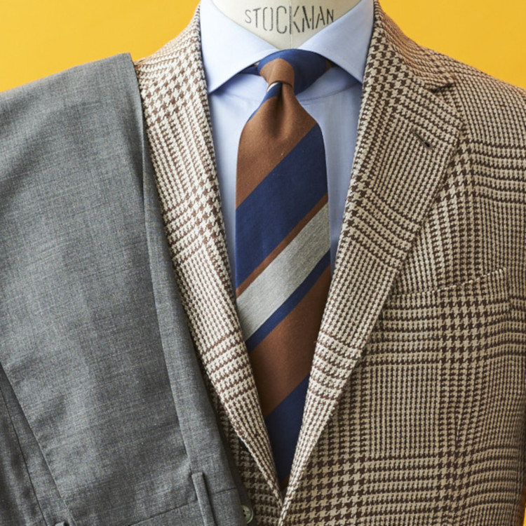 柄ジャケットが簡単にキマる2配色は?【1分で出来るスーツのお洒落】