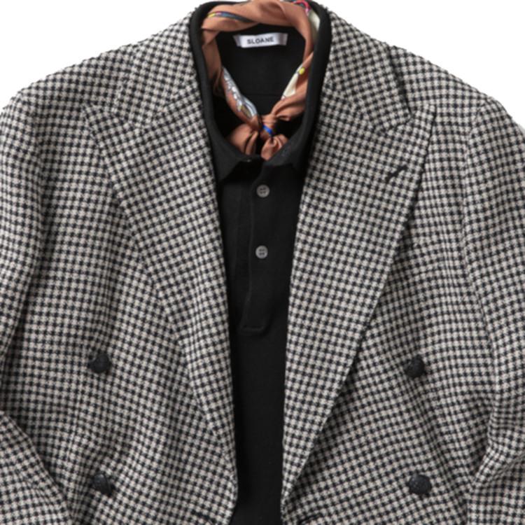 ノータイのジャケットをきれいめに見せるコツ【1分で出来るスーツのお洒落】