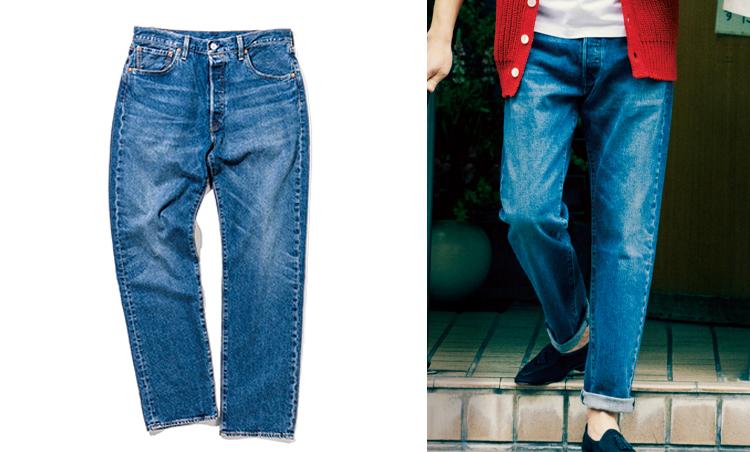 """<p><strong>Washed Jeans in<br /> """"BACK TO THE FUTURE""""</strong><br /> タイムトラベルを題材にした『バック・トゥ・ザ・フューチャー』。主人公マーティ(マイケル・J.フォックス)のいでたちは、'80sスタイルを象徴するものだ。本企画では501®「'93ストレート」を使用。 腰・腿周りに適度なゆとりがあるのが特徴だ。1万2000円/リーバイス®(リーバイ・ストラウス ジャパン)</p>"""