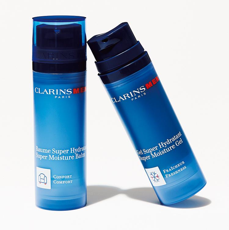<p><strong>貴子先生が選ぶ イチオシの潤顔コスメはコレ!</strong><br /> <u>クラランス/右:モイスチャー ジェル SP 左:モイスチャー バーム SP</u><br /> 男性ホルモンが肌のバリア機能に与える影響を考慮して作られた男性のための保湿剤。質感の違いで2種類から選べるのがうれしい。右:モイスチャージェルSP、左:モイスチャーバーム SP 各50g 5500円(クラランス)</p>