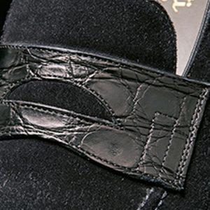 紳士の靴と鞄はエキゾチックレザー
