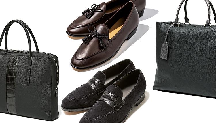 紳士の靴と鞄はエキゾチックレザーのポイント使いで「高級感が増幅される」という事実