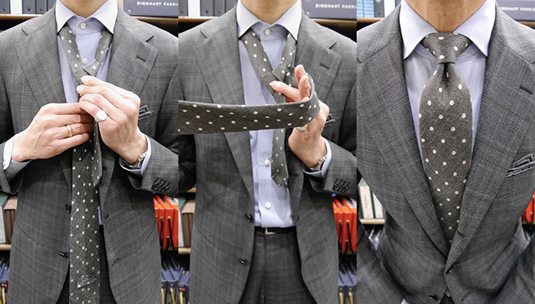 【ネクタイの結び方動画】Vol.3「セミウィンザーノット」を作ってみよう