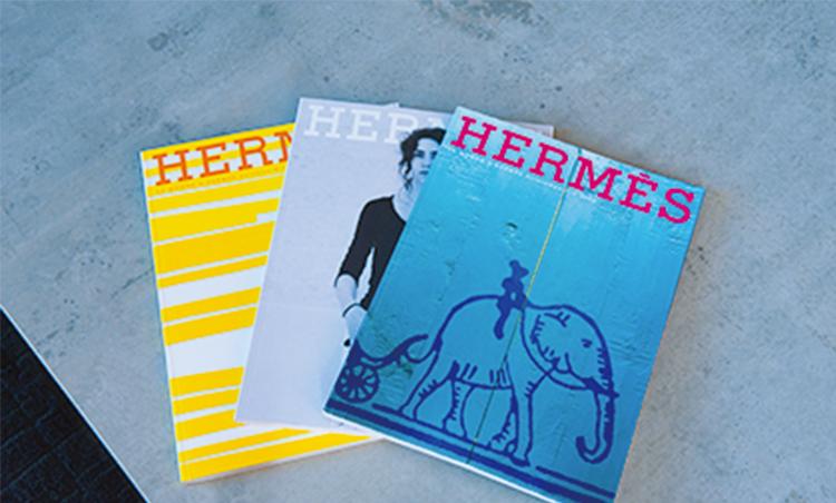 <p>エルメスのカタログは、バックナンバー150冊ほどを集めるコレクター。</p>
