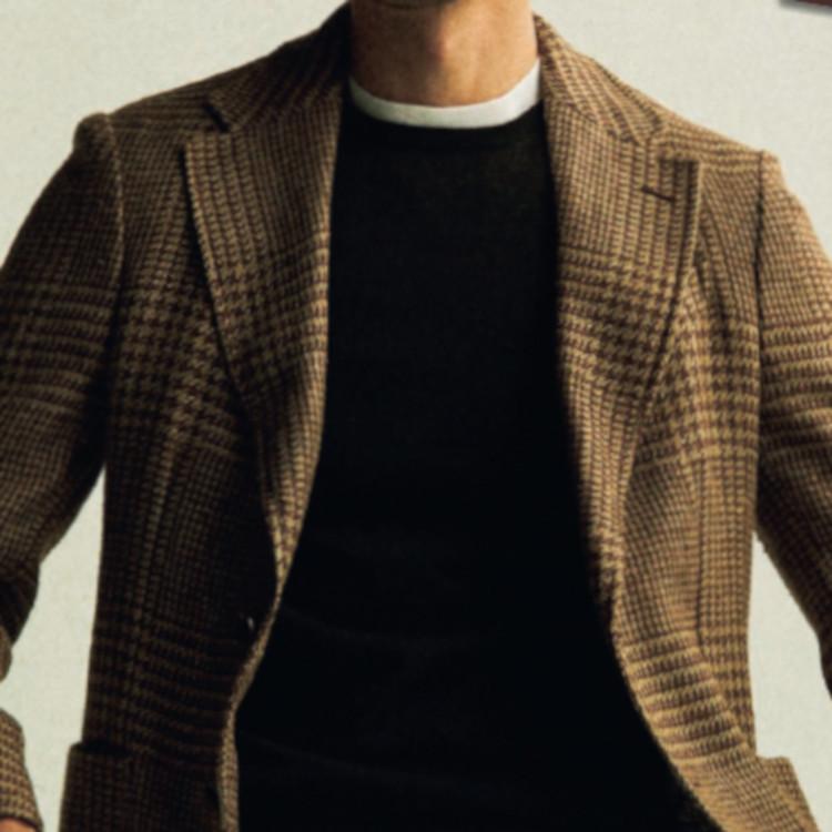 ジャケット×Tシャツをシックに見せるコツ【1分で出来る胸元お洒落】