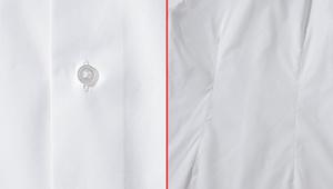 「オーダーシャツ」は、ボタンとダーツの入り方も重要だ